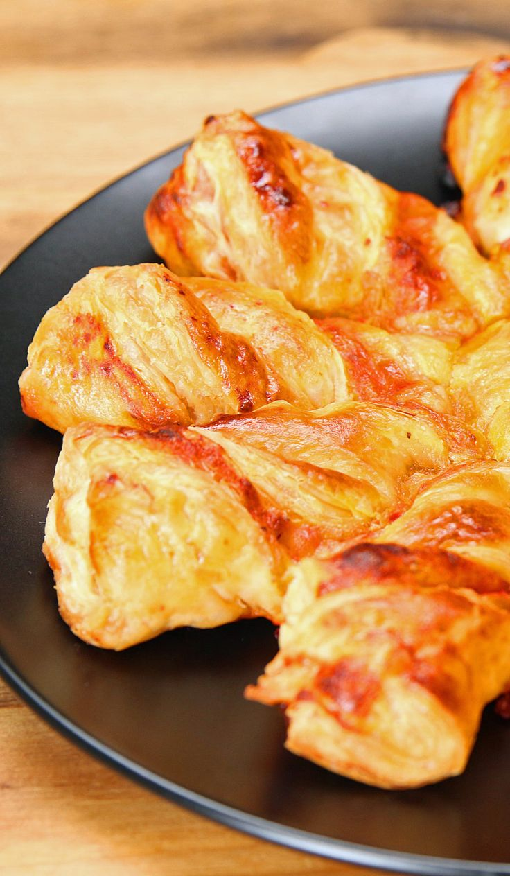 Pizza Twists. I would skip the cheese and added minced pepperoni, or maybe add dairy free cheese and pepperoni