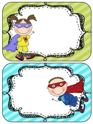 Editable Class Rules Super Hero Theme  