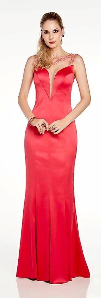 vestido longo madrinha/ formatura - cor rosa, vermelho