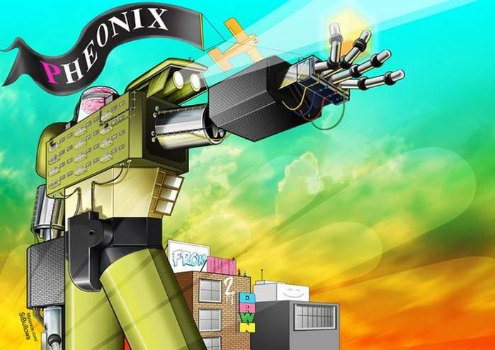 #comic #illustration #digital #vector #photoshop #illustator #adobe #robot #mecha