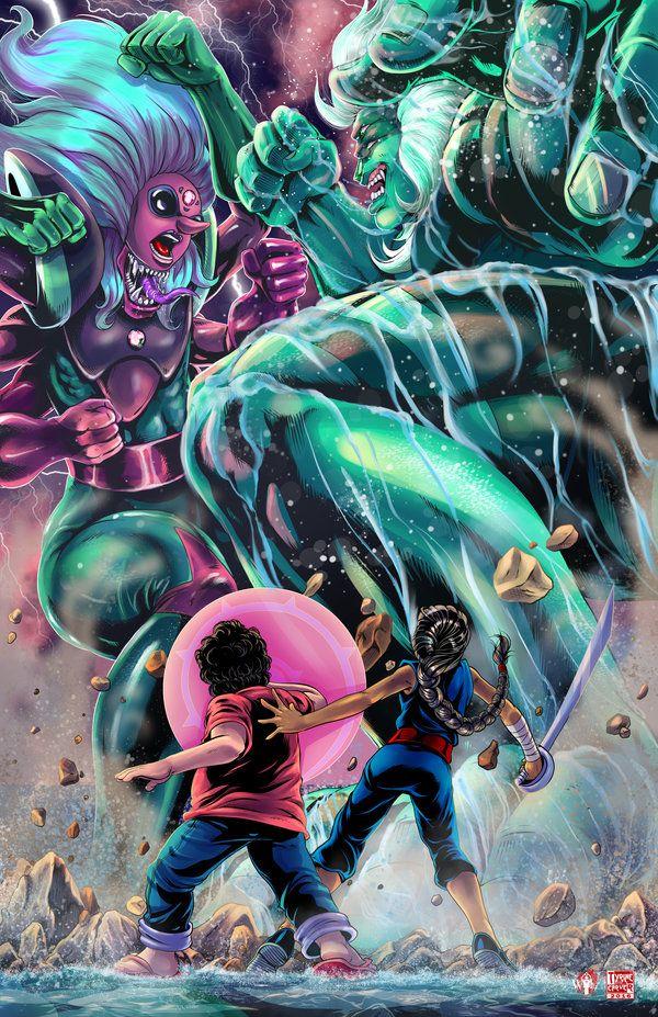 Steven Universe - Fusion Battle by TyrineCarver.deviantart.com on @DeviantArt