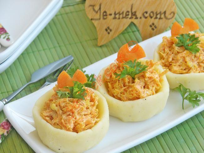 Patates Çanağında Havuç Salatası Resimli Tarifi - Yemek Tarifleri