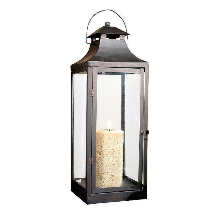 Pomeroy Indoor / Outdoor Lantern Candle Holder, Brown