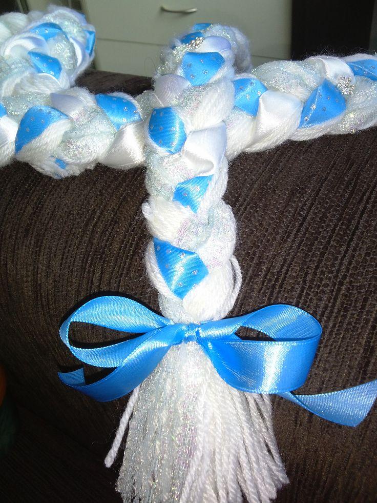 Frozen - Queen Elsa blue and white braid by Bubblegum Treehouse