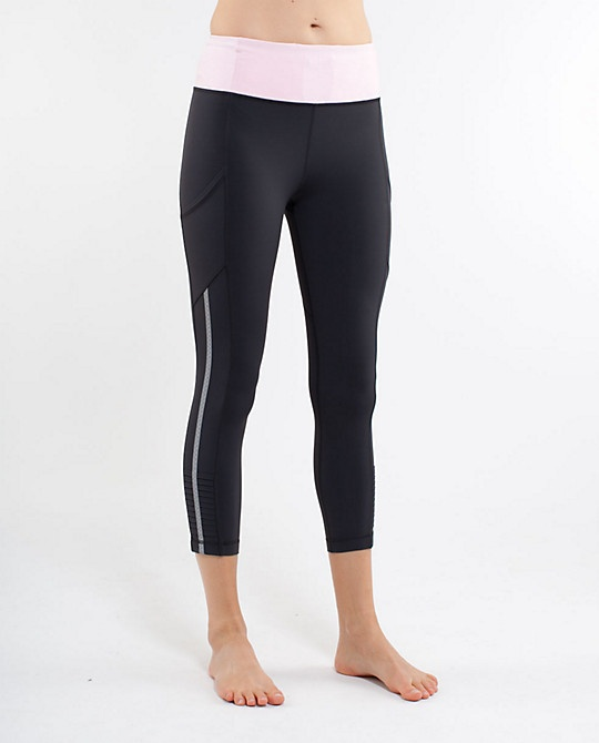 These Lululemon capris are the best running pants I have ever owned. Pockets for an I-pod or phone, (I use a running app on my phone to track my runs), plus extra ones for keys etc.. They are comfy, stay in place and look great