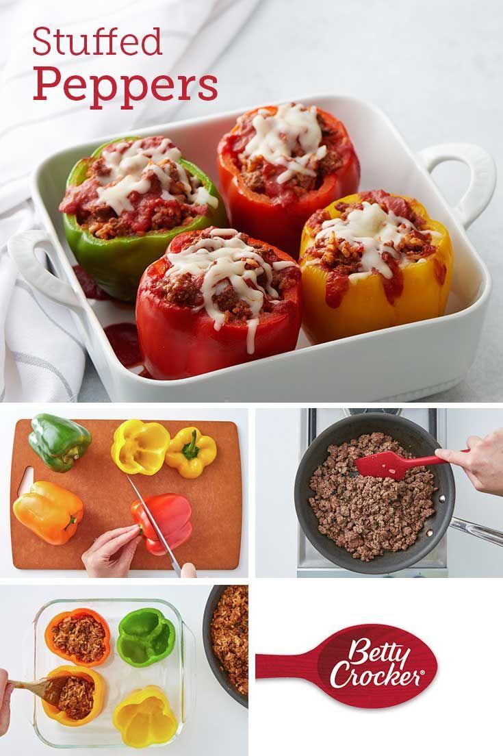 Stuffed Peppers Recipe In 2020 Stuffed Peppers Recipes Homemade Recipes