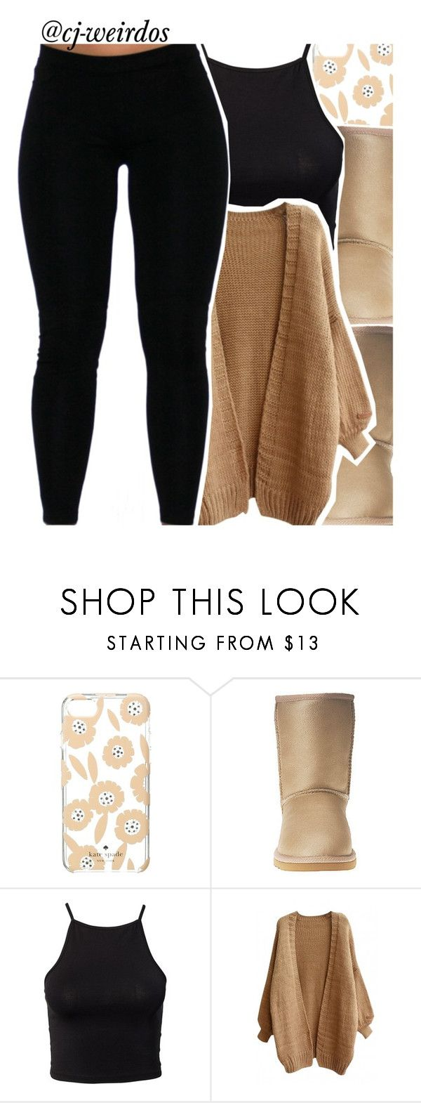 At The Library by cj-weirdos ❤ liked on Polyvore featuring Kate Spade, UGG Australia and NLY Trend