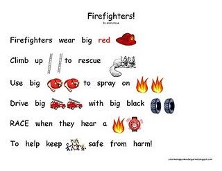 firefighters rebus poem