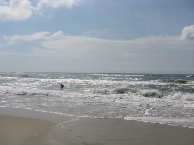 Outer Banks, Okracoke NC Ocracoke Observer Choppy waters may contribute to people not going into the water two days after a  shark attack. Photo by P. Vankevich