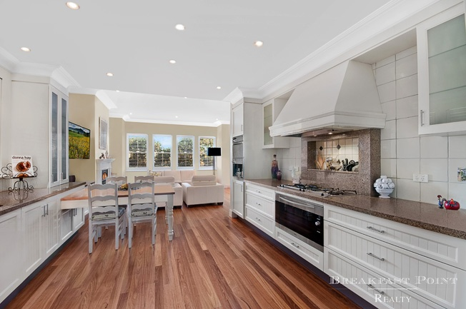 Vast French provincial kitchen with Miele gas appliances  23 Jacaranda Drive, CABARITA NSW