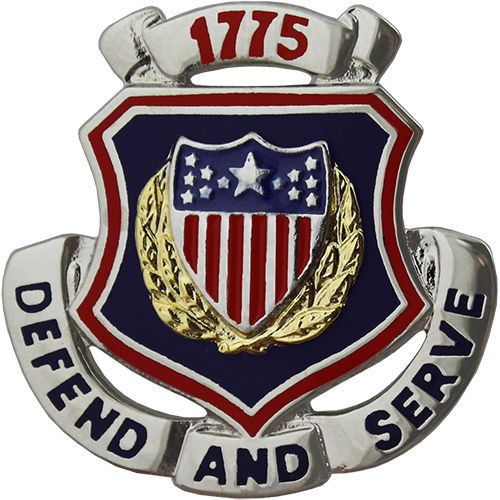 ARMY CORPS CREST: ADJUTANT GENERAL - DEFEND AND SERVE 1775