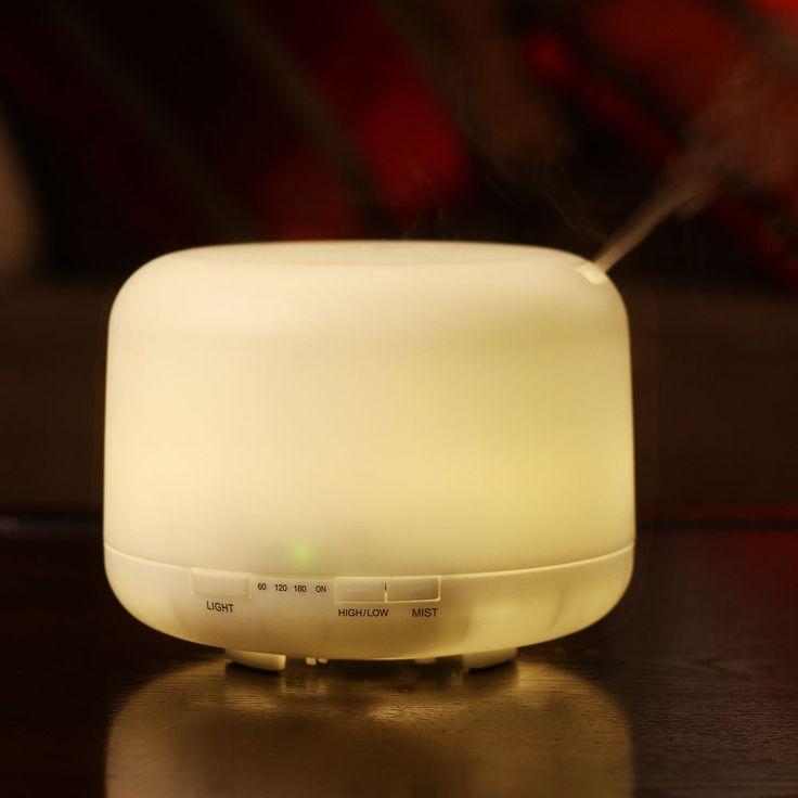 Multicolor 500 ml Led Ultrasonic Portable Air Humidifier Atomizer Essential Oil Diffuser Plastic cute Incense Burners