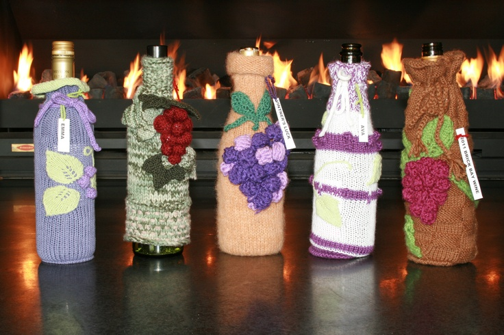 Several Wine Cozies were designed and made depicting grapes.