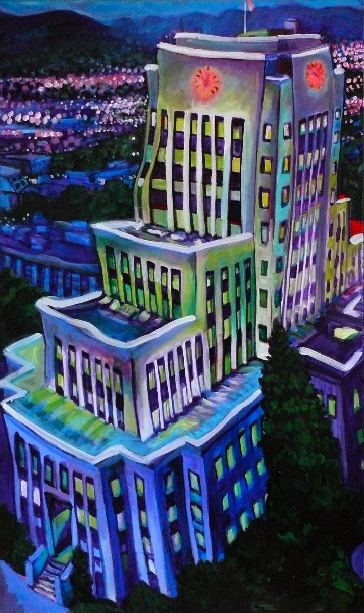 CITY OF GRACE, acrylic on canvas, 2010, SOLD #art #arte #artists #artwork #finart #popart #painting #tiko #kerr #tikokerr