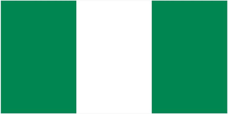 The colours of nigerian flag which consist of green and white can easily seen all over the country from houses pained in such colors to roads using same pattern