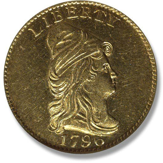 Capped Bust. No Stars on obverse. 1796