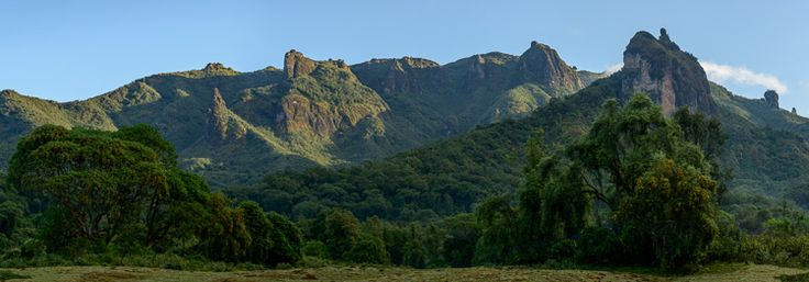 View of the #BaleMountains from Bale Mountain Lodge. #Ethiopia.