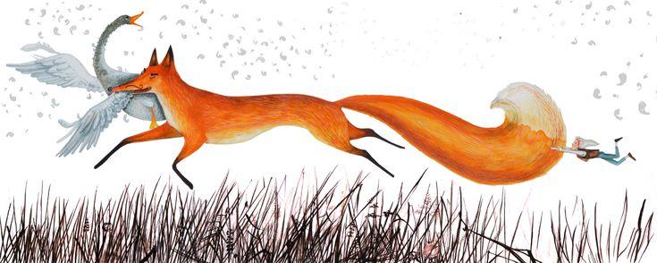 Nils Holgerson and fox
