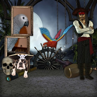 Who doesn't like Pirates especially Johnny Depp as Captain Jack Sparrow Arrgggh  This kit is full of pirate goodness..it has 81 elements/35 papers and 4 quickpages