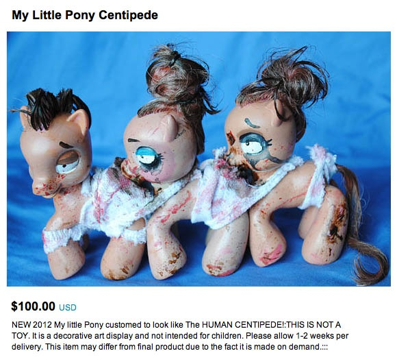 Those ponies are NOT having a good day...  http://www.regretsy.com/2012/02/22/my-little-ponypede/: Stuff, Ponies, Art, My Little Pony, Ponycentipede, Pony Centipede, Human Centipede, Wtf, Centipede Pony
