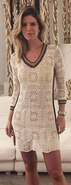 crochet dress by Vnessa Montoro