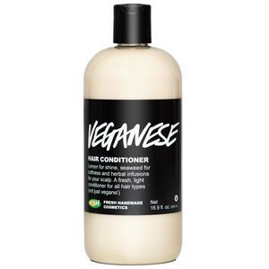 Veganese Conditioner from LUSH -- MY FAVE -- super light conditioner for fine hair