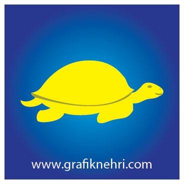 Kaplumbağa Çizimi Vektörel