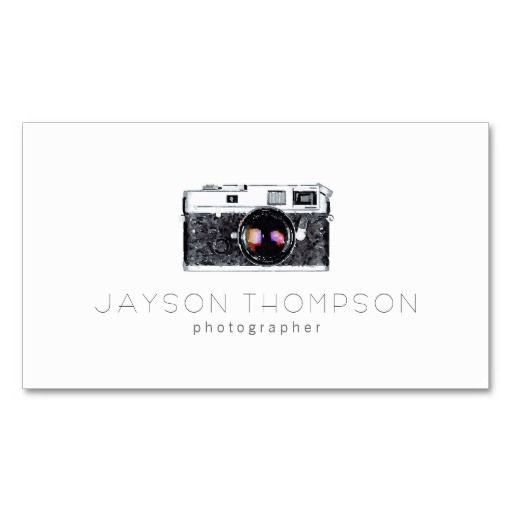 303 best photographer business cards images on pinterest photographer vintage camera illustration logo business card reheart Gallery