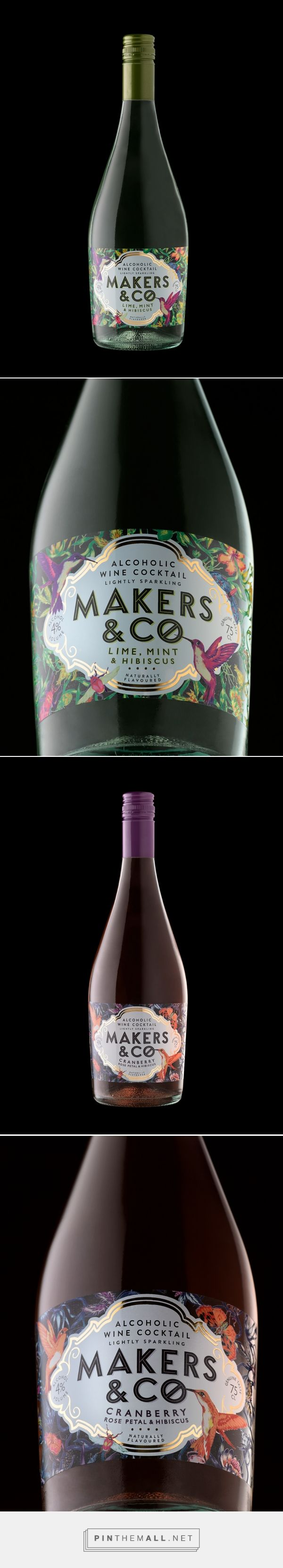 Makers & Co. wine packaging design by Stranger & Stranger - http://www.packagingoftheworld.com/2017/08/makers-co.html - created via https://pinthemall.net