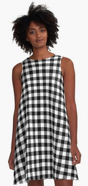 Gingham Black and White Pattern A-Line Dresses https://www.redbubble.com/people/markuk97/works/28266678-gingham-black-and-white-pattern?asc=t&p=a-line-dress via @redbubble