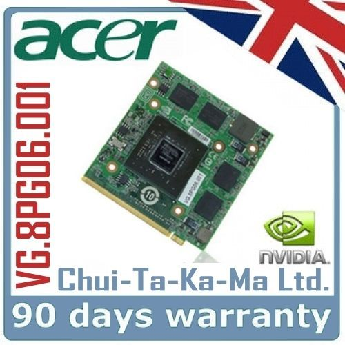 Acer Aspire 9920G Laptop Graphics Card Repair Service for VG.8PG06.001 8600M GT