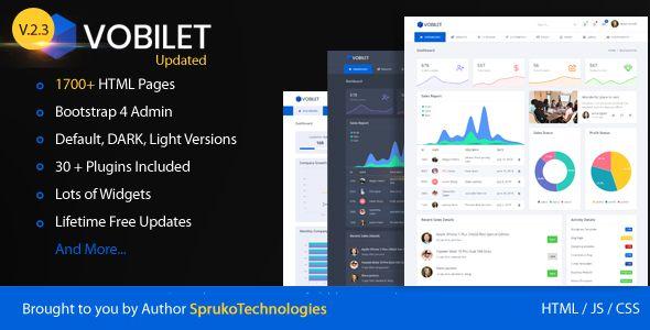 Vobilet – Responsive Bootstrap 4 Admin Dashboard Template