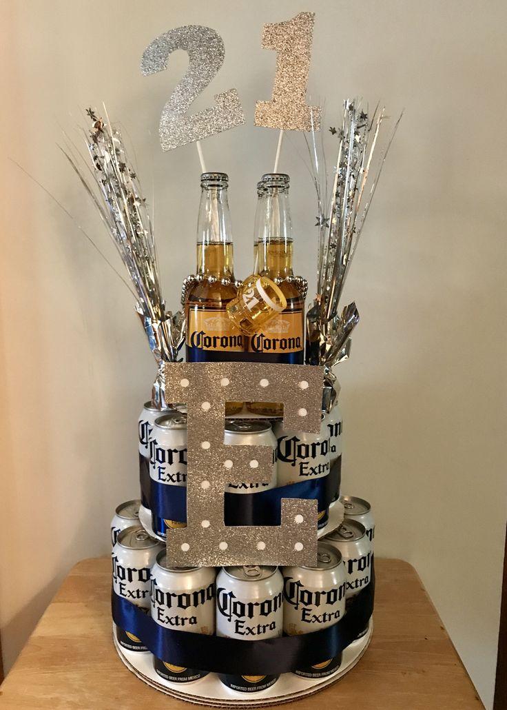 Corona 21st Birthday Beer Cake