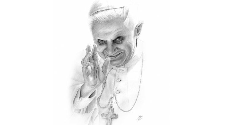The Pope - Time Lapse Portrait Drawing