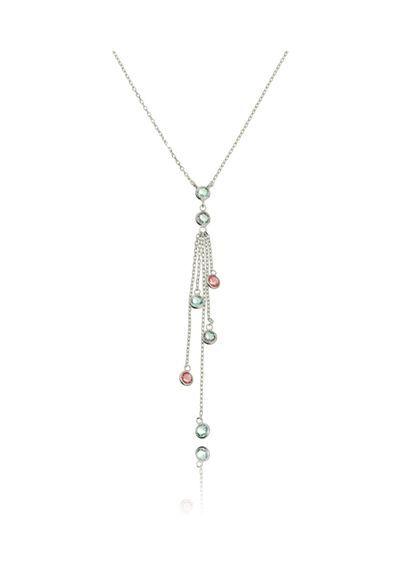 semi-joias-colar-gravatinha-prata-de-pedras-coloridas-waufen   Joias ... 6d44357e55