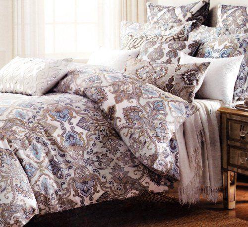 Tahari Home 3pc Duvet Cover Set Paisley Medallion Silver: 1000+ Ideas About Luxury Duvet Covers On Pinterest