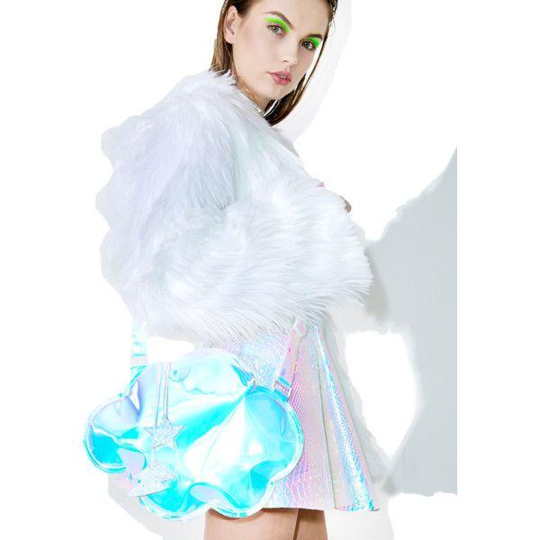 ESQAPE Cloudii Crossbody Bag (€83) ❤ liked on Polyvore featuring bags, handbags, shoulder bags, hologram purse, grey shoulder bag, gray shoulder bag, crossbody shoulder bag and cross body