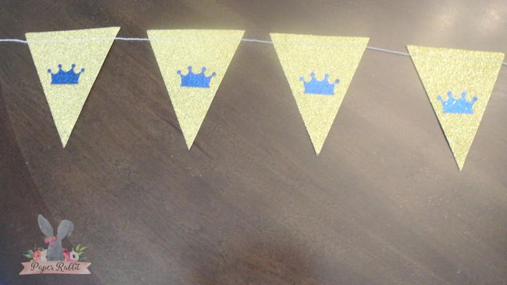Royal Prince Baby Shower/First Birthday Banner. Handcrafted- Ready to ship. By Paper Rabbit by PaperRabbit87 on Etsy