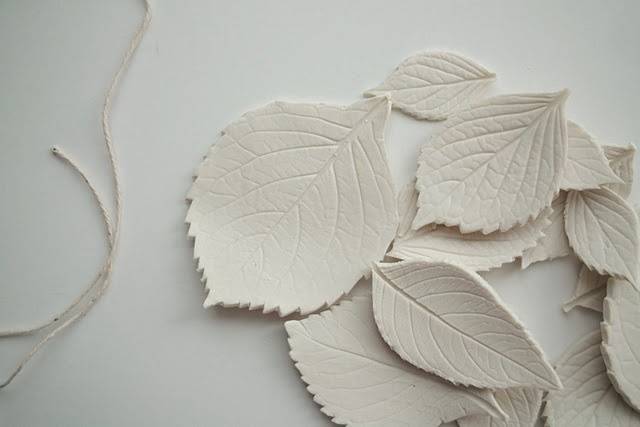 porcelain leaves  (could use polymer clay???)