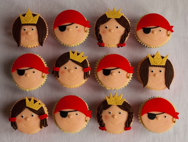 Pirates and Princess Cupcakes by thecustomcakeshop, via Flickr