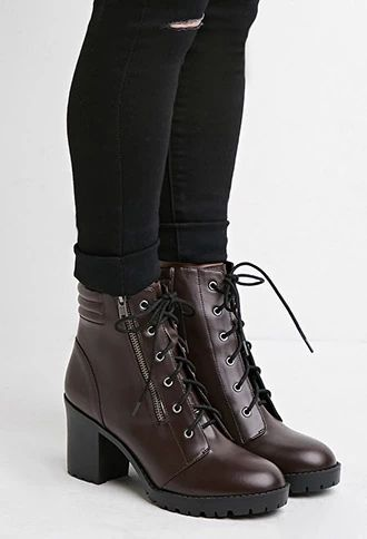 Faux Leather Combat Boots | Forever 21 #stepitup