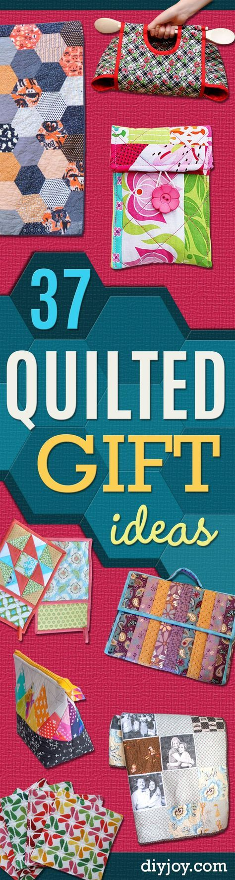 Best Quilting Projects for DIY Gifts - Things You Can Quilt and Sew for Friends, Family and Christmas Gift Ideas - Easy and Quick Quilting Patterns for Presents To Give At Holidays, Birthdays and Baby Gifts. Step by Step Tutorials and Instructions http://diyjoy.com/quilting-projects-diy-gifts