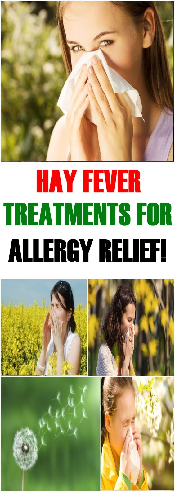 Hay Fever Treatments For Allergy Relief!