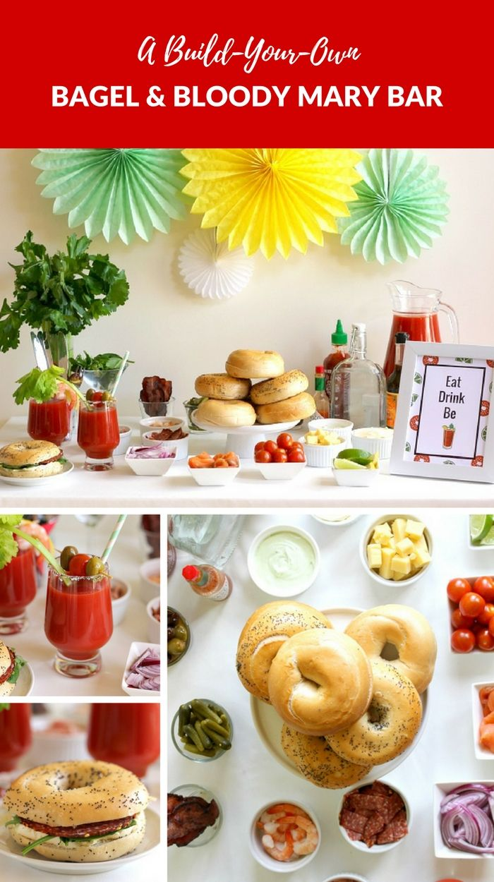 Party Idea: A DIY Bagel And Bloody Mary Bar