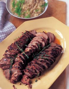 Herb-Marinated Pork Tenderloin. yumm!