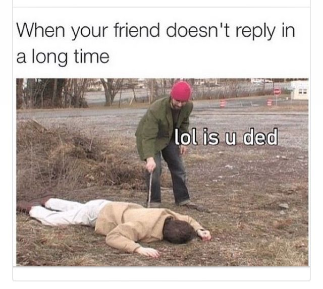 When your friend doesn't reply in a long time