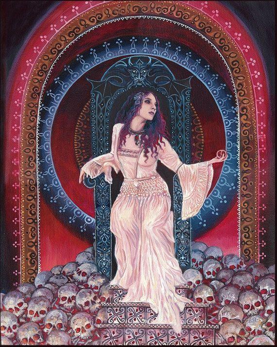 Persephone  Queen of the Underworld Goddess 8x10 by EmilyBalivet, $15.00