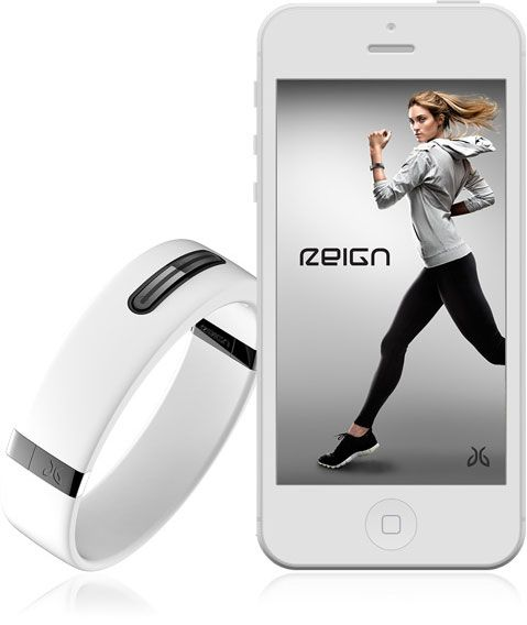 """Reign. Fitness tracker that conforms to your wrist. """"JayBird leaps past step & movement counting and solves real active life needs that you actually care about.""""  """"More great features yet to be announced; Patents pending""""  [Sorry, I don't know how it solves 'active life needs' if info isn't available on the site.] Available around summer 2014."""