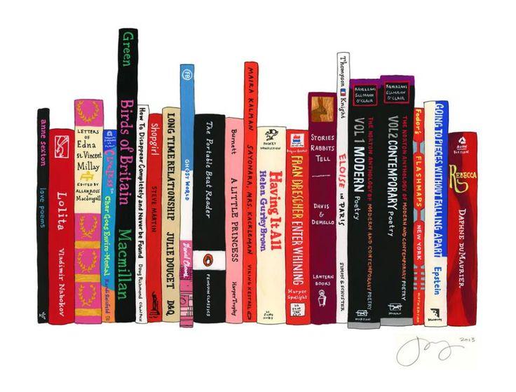 Lena Dunham's Ideal Bookshelf by Jane Mount