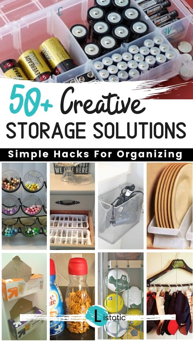 50 Brilliant Easy Cheap Storage Ideas Lots Of Tips And Tricks Diy Small Space Hacks Small Space Diy Cheap Storage